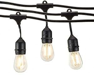 Deneve Outdoor String Lights 48ft With Led Bulbs Heavy