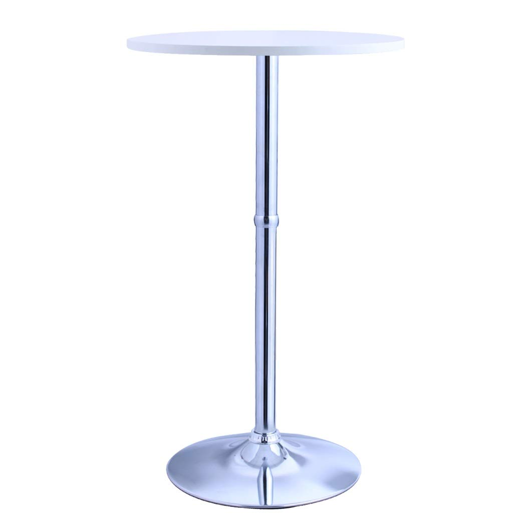Duhome Bar Table MDF Wood Contemporary and Elegant Design Pub Table Restaurant Bistro 23.5'' Top 41'' Height (White)