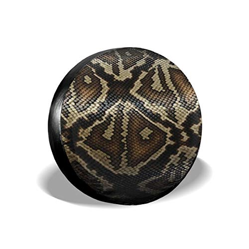 Art-Capital Spare Tire Cover Snake Skin Scales Tire Cover Waterproof UV Protective Wheel Tire Protector Universal Fit for Jeep Car Trailer RV SUV Truck Camper Van 14 15 16 17 Inch
