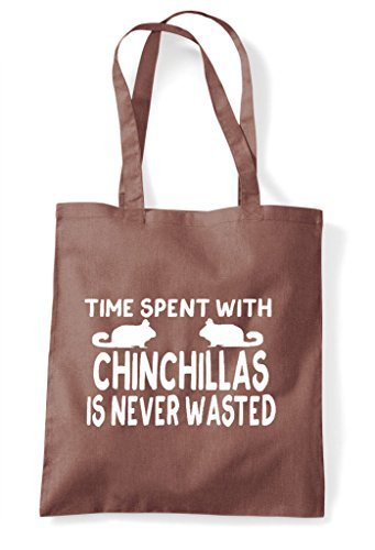 With Time Never Spent Shopper Wasted Funny Is Chincillas Chestnut Tote Bag 5x5OqI4