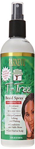 Parnevu T-Tree Braid Spray, 12 Ounce African Pride Braid Spray