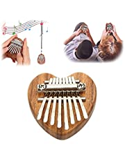 Mini Thumb Piano 8 Key Kalimba Finger Piano, Portable Finger Piano, Thanksgiving for Family, Great Gifts for Kids, Adults and Beginners (Acacia-Heart)