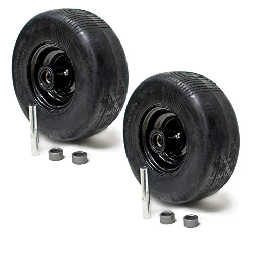 2PK Wright Stander 72460026 Front Solid Tire Assembly Puncture Proof No Flat 11x4x5