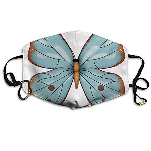 Monarch Butterfly Clipart Unisex Facemask Ear-loop Dust Facemask Cycling Breathable Mask