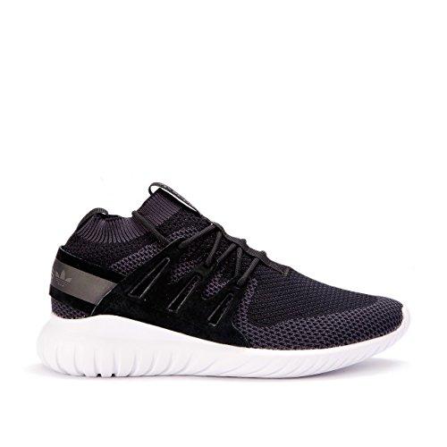 adidas Tubular Nova Primeknit Mens Running Shoes (11 D(M) US, Core Black / Grey / Vintage White)
