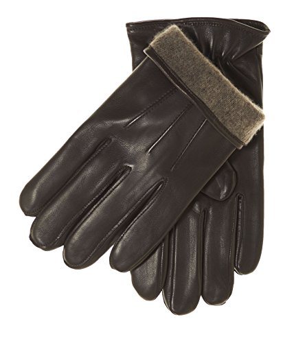 Fratelli Orsini Everyday Men's Italian Lambskin Cashmere Lined Winter Leather Gloves Size M Color Black