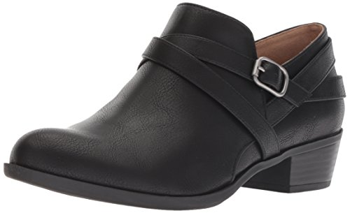 LifeStride Women's Adley Ankle Boot, Black, 7.5 M US
