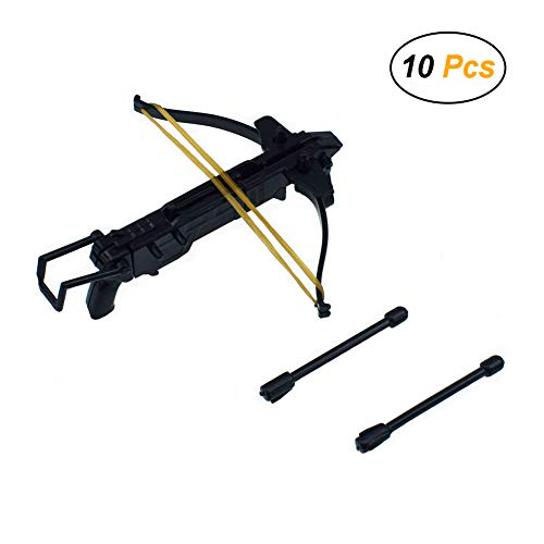 Easy 99 10 Pcs Mini Crossbow DIY Plastic Bow for Children Toys Military Soldiers Action Figure Accessories Capsule Toy ()