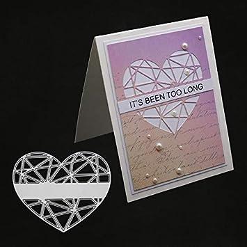 CAOLATOR Troqueles de Corte de Metal Fondo Creativo Invitaci/ón de Encaje Acero Carbono en Relieve Dies Corte Troqueles de Corte Scrapbooking para Tarjeta Papel /Álbum Scrapbook