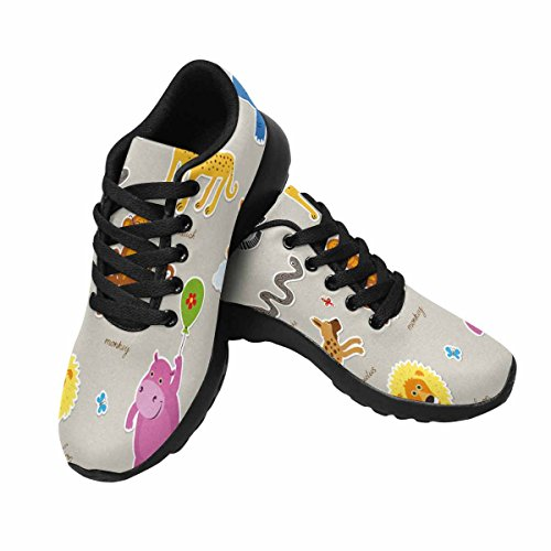 InterestPrint Womens Casual Soft Sports Road Running Walking Shoes African Animals Multi 1 qQegFpO