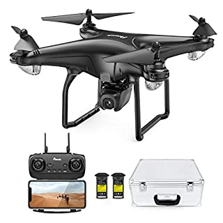 Potensic D58, FPV Drone with 2K Camera, 5G WiFi HD Live Video, GPS Auto Return, RC Quadcopter for Adult, Portable Case, 2 Battery, Follow Me, Easy Selfie Expert Beginner