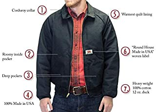 product image for Round House American Made Jacket 12 oz Black Duck Hooded - 1806