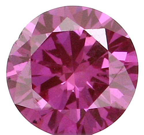 Natural Loose Diamond Round Pink Color SI1 Clarity 2.75 MM 0.07 Ct L5192
