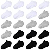 Cooraby 20 Pairs Toddler Kids Half Cushion Low Cut