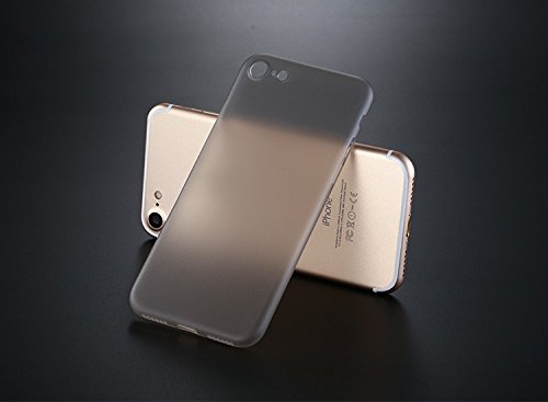 iPhone 7 Case, [ SUKAI ] Slim / Ultra-Thin (0.35mm) PP (Semi-transparent) Thinnest Hard Protect Case Back Cover Bumper Lightweight for iPhone 7. [Grey] by SUKAI (Image #7)