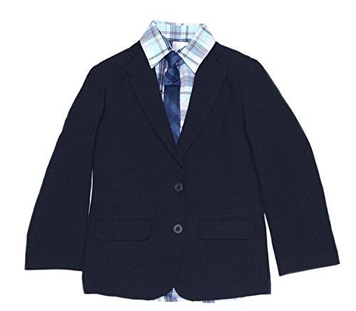 IZOD Big Boys Suit Jacket Blazer 4 Pc Set with Shirt Tie and Pants (Navy, 12) by IZOD (Image #1)