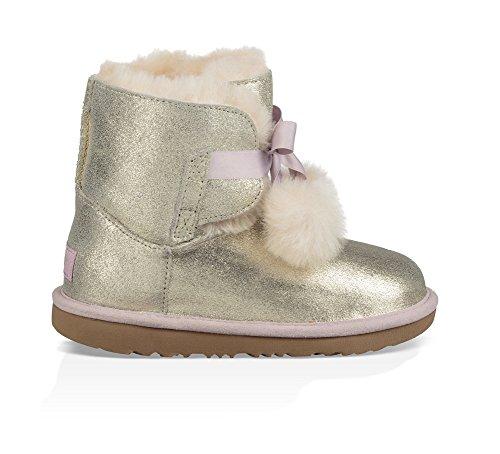 UGG Girls K Gita Metallic Pull-On Boot, Gold, 13 M US Little Kid by UGG