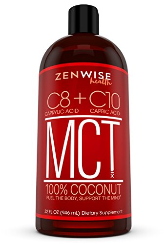 All Natural Coconut MCT Oil - 32 OZ C8 & C10 Weight & Energy Supplement - Gluten Free Formula for Metabolism Support - Great for Coffee + Drinks, Smoothies & Salad Dressings - BPA Free (Mct Oil Organic)