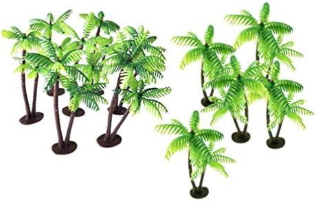 SUPVOX 48 Piezas Mini cocotero Mini Paisaje decoración Palmera cocotero decoración Bonsai decoración para el hogar Mini jardín: Amazon.es: Hogar
