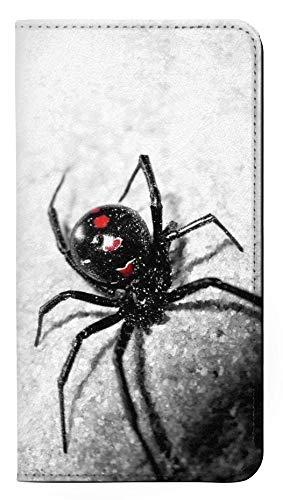 RW2386 Black Widow Spider PU Leather Flip Case Cover for Motorola Moto E Play (5th Gen.), Moto E5 Play, Moto E5 Cruise (E5 Play US Version)