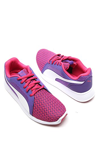 Scarpe sportive Junior, Puma ST Trainer Evo Techtribe 362530 Beetroot Purple - Puma White