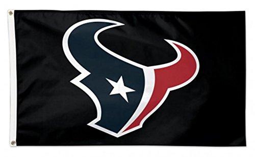 (Stockdale Houston Texans WC BLACK w/Logo Premium 3x5 Flag Outdoor House Banner Football)
