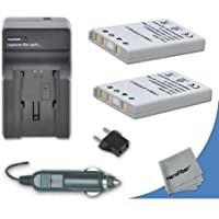 2 High Capacity Replacement Nikon EN-EL5 Batteries with AC/DC Quick Charger Kit Made for Nikon Coolpix P500 Digital Camera