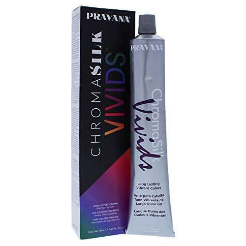 (Pravana Chromasilk Vivids Long-lasting Vibrant Color - Silver By Pravana for Unisex - 3 Ounce Hair Color, 3 Ounce)