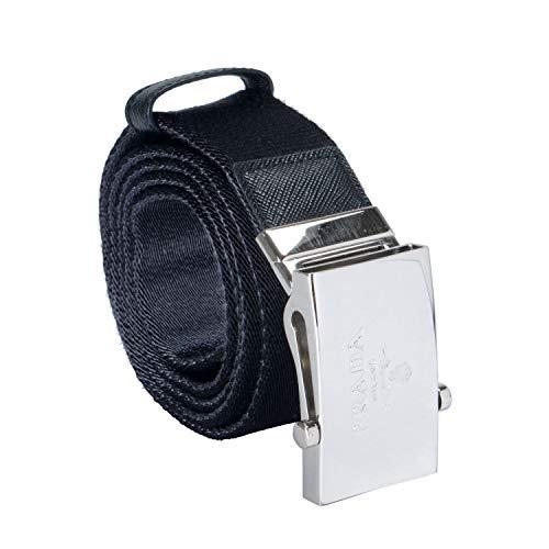 Prada Leather Trim Black Men's Fashion Belt Sz US 38 IT 95