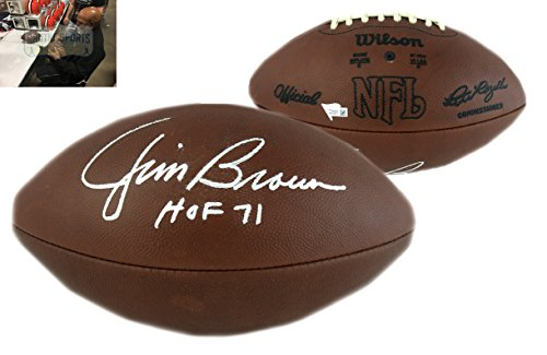 Jim Brown Autographed/Signed Cleveland Browns Authentic Duke NFL Football With