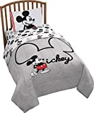 Disney Mickey Mouse Jersey 4 Piece Twin Bed Set - Includes Reversible Comforter & Sheet Set - Super Soft Fade Resistant Polyester (Official Product)