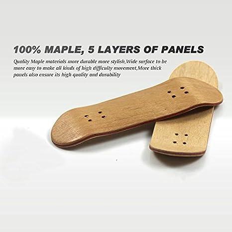 Monopatín de Ecmqs, profesional, para skid pad, de madera de arce, para dedos, de aleación, para niños