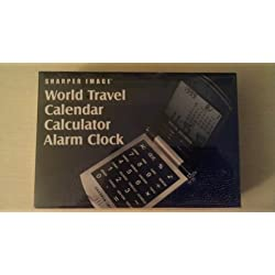 Sharper Image World Travel Calendar Calculator Alarm Clock