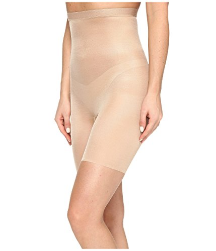 (SPANX Women's Skinny Britches High-Waisted Mid-Thigh Short Naked 2.0 X-Small)