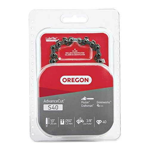 Oregon S40 AdvanceCut 10-Inch Chainsaw Chain, Fits Craftsman, Poulan, ()