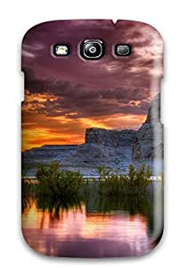 8320405K97414283 For Galaxy Protective Case, High Quality For Galaxy S3 Earth Landscape Skin Case Cover