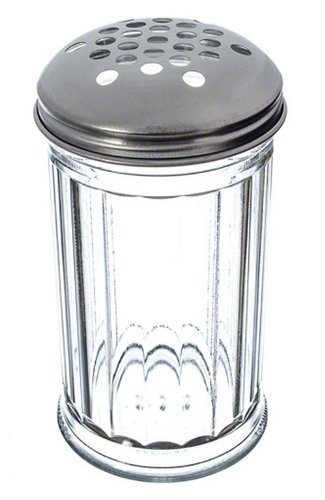 American Metalcraft (SAN319) 12 oz Plastic Cheese Shaker w/Extra Large Holes Lid