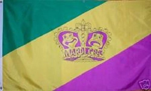 ALBATROS 3 ft x 5 ft Mardi Gras Comedy and Tragedy Flag Banner Brass Grommets for Home and Parades, Official Party, All Weather Indoors Outdoors