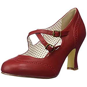 Pin Up Couture Flapper-35, Scarpe col Tacco Punta Chiusa Donna