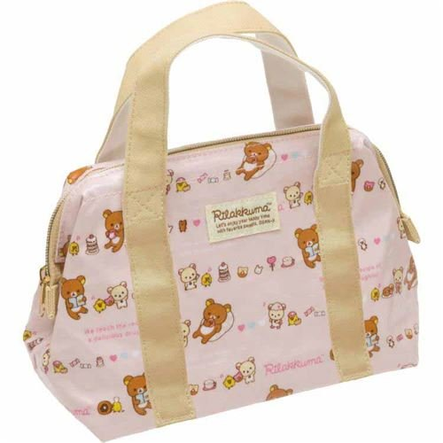 light pink Rilakkuma sweet treat lunch bag thermal bag by San-X from Japan