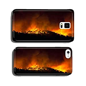 Forest fire at night cell phone cover case Samsung S6