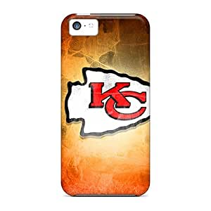 Shock Absorbent Hard Phone Cases For Iphone 5c (ilT676EyAG) Support Personal Customs Realistic Kansas City Chiefs Image