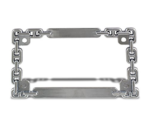 TCS Chrome Metal Motorcycle License product image