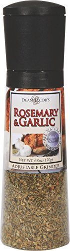 Dean Jacob's Rosemary & Garlic Chef Size, Jumbo Adjustable Grinder - 6.0 oz.