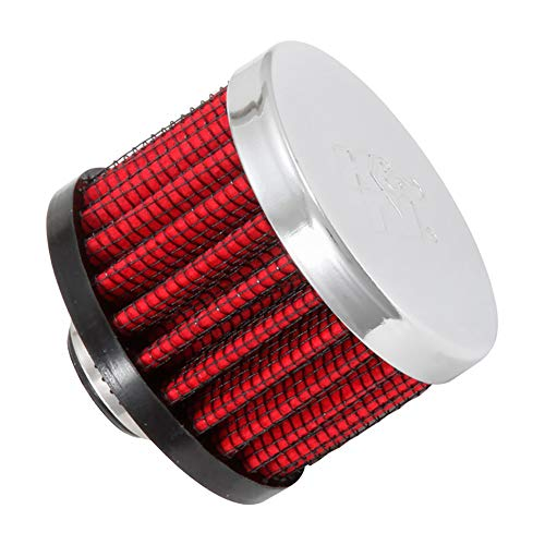 - K&N 62-1330 Vent Air Filter / Breather: Vent Air Filter/ Breather; 0.5 in (13 mm) Flange ID; 1.5 in (38 mm) Height; 2 in (51 mm) Base; 2 in (51 mm) Top
