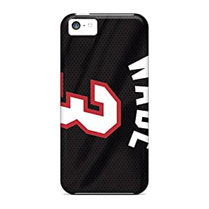 Marycase88 Iphone 5c Protective Cell-phone Hard Cover Support Personal Customs High Resolution Miami Heat Image [PbW8900CkQn]