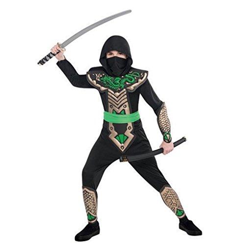 Amscan Boys Ninja Dragon Slayer Costume - Small (4-6), -