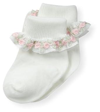 Country Kids Baby-Girls Newborn Rose Chain Lace Sock