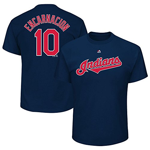 Edwin Encarnacion #10 Cleveland Indians Youth Player Name & Number T-Shirt (Youth Medium 10/12) (Cleveland Indians Tee Shirts)