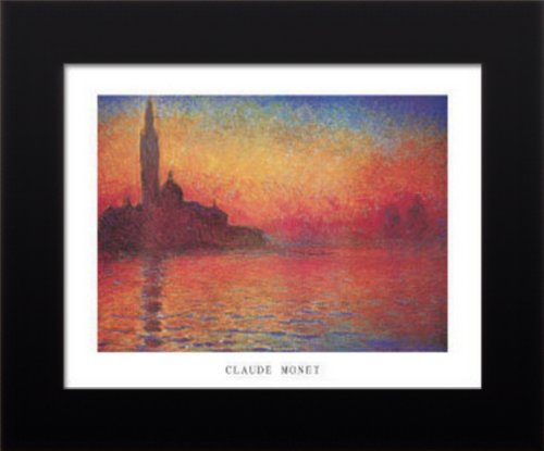 Framed Claude Monet Dusk Sunset Venice Art Poster Print